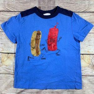 Hanna Andersson ketchup and hot dog race shirt